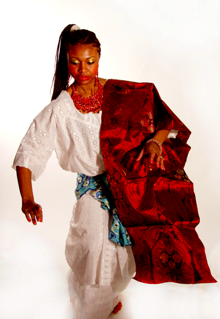 eseohe in a traditional edo dress (nigeria)