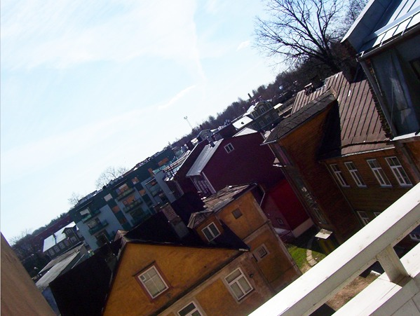 view from a balcony in tartu